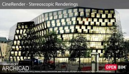 ARCHICAD 22 - CineRender - Stereoskoopilised visualiseeringud